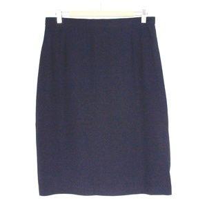 Navy Blue 100% Silk Pencil Skirt {Escada}